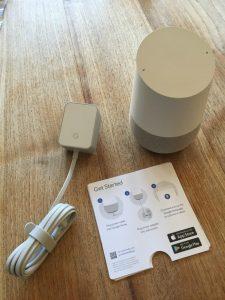 Google Home uitpakken