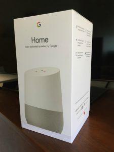 Google Home in doos