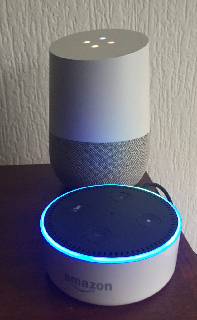 Amazon Echo en Google Home